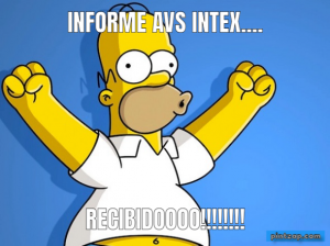 Informe avs intex.... RECIBIDOOOO!!!!!!!!