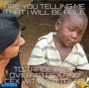 Are you telling me that I will be able To trade from over 40 DEX AND cex with kattana?