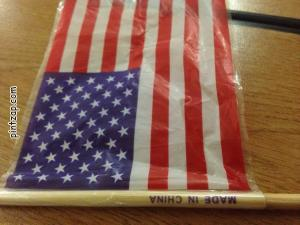 Una bandera made in china