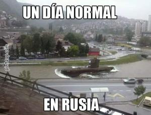 Un día normal en Rusia