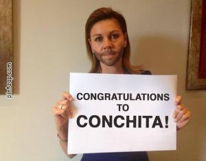 Congratulations to Conchita