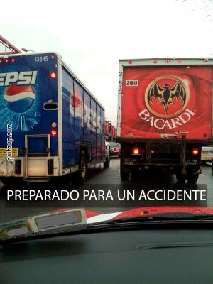 Preparado para un accidente