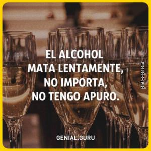 El alcohol mata lentamente