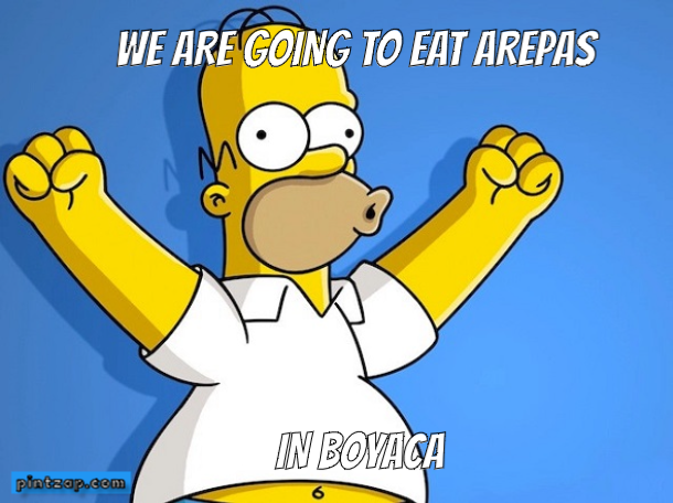 We are going to eat arepas  In Boyaca
