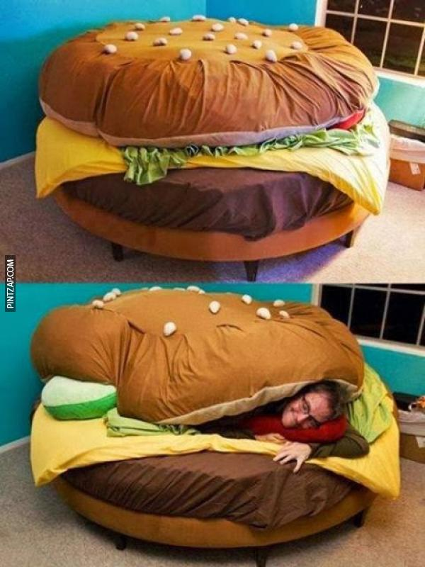 Cama de cheeseburger