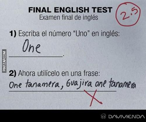 Final english test